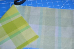 Tricot interfacing fused to cotton