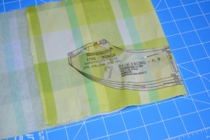 Cutting fabric and interfacing in one step