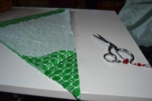 Cut along the fold