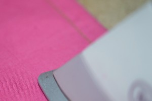 Press seam as sewn, and then to the back or front of your garment