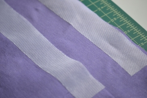 Adding interfacing to the seam allowance of the zipper