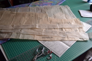 Pattern prepared for cutting
