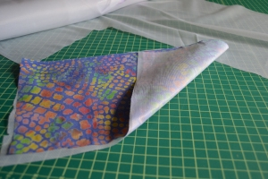 Fabric fused to interfacing
