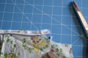 Curve the bias tape down.