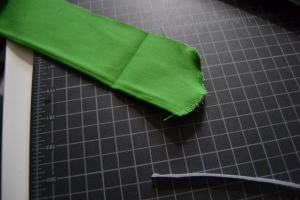 Finish the curved end of the zip shield.
