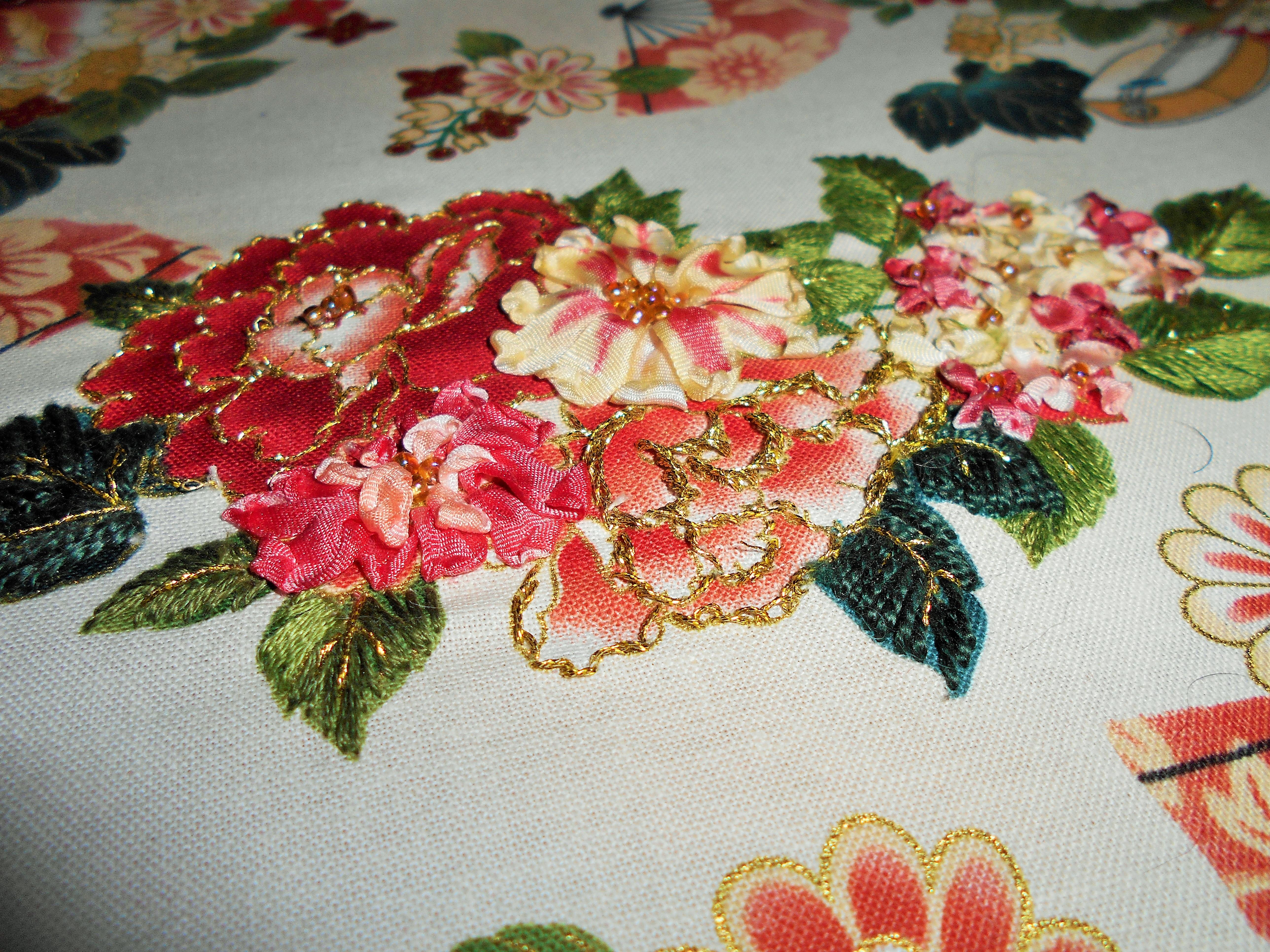 Ribbon embroidery bedspread designs - Dscn0054 2